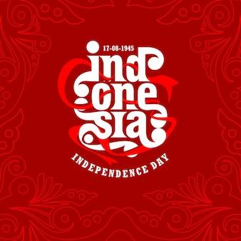 Disegno del modello del giorno dell'indipendenza dell'indonesia