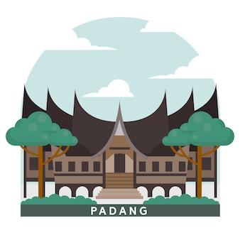 Punto di riferimento dell'indonesia padang house