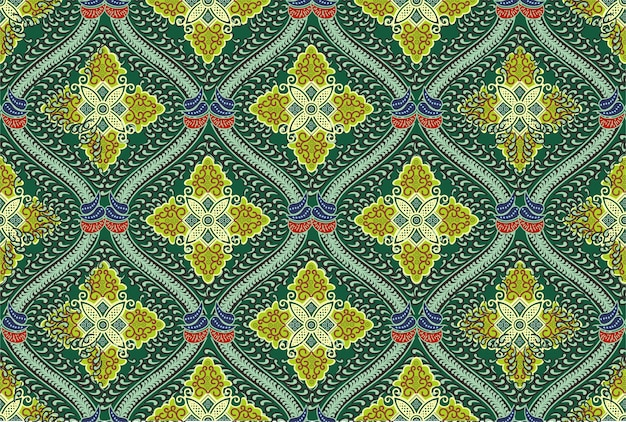 Motivo batik indonesiano in moderni design colorati
