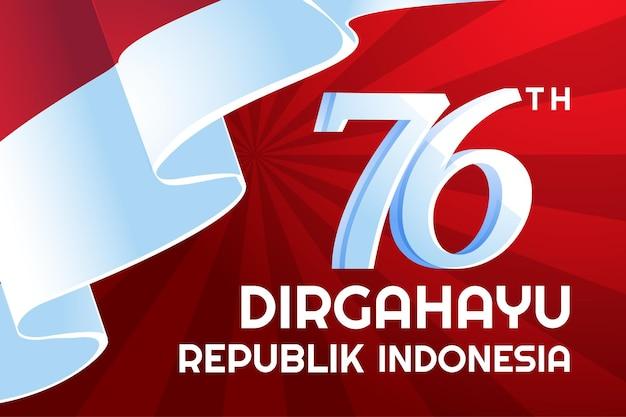 Festa dell'indipendenza indonesiana dirgahayu republik indonesia