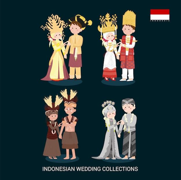 Abito tradizionale da sposa indonesiano