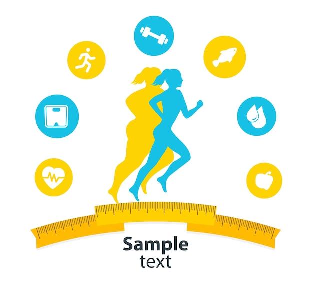 Isolamento del concetto di fitness indoor e dell'app per il fitness