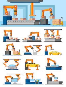 Concetto di produzione automatizzata industriale
