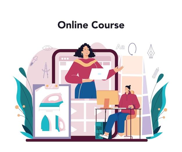 Servizio o piattaforma online per designer industriali. artista che crea moderno