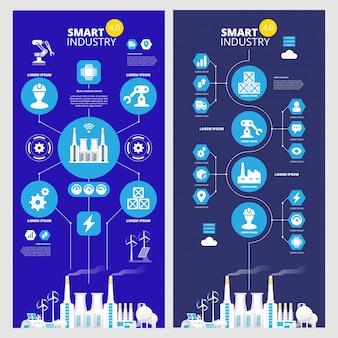 Infografica industriale. illustrazione di industria 4.0