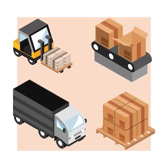 Set di logistica industriale