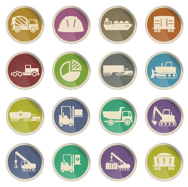 Set di icone vettoriali industriali semplicemente