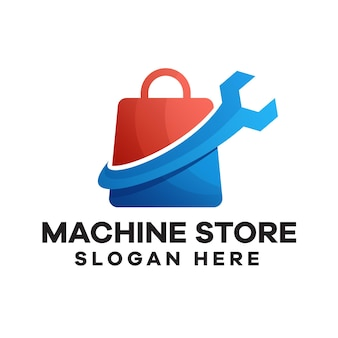 Design del logo sfumato del negozio di settore