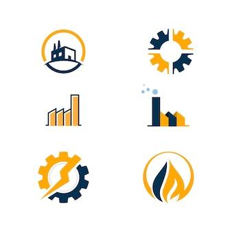 Illustrazione del disegno dell'icona di vettore di industria template