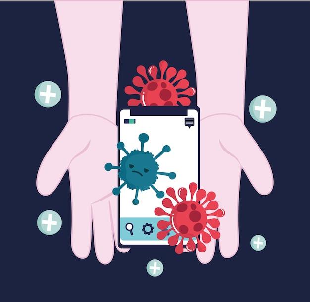 Mani infette con il telefono