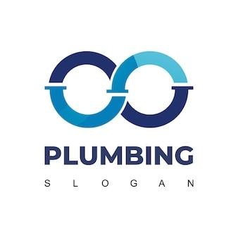Infinite pipe, ispirazione per il design del logo idraulico