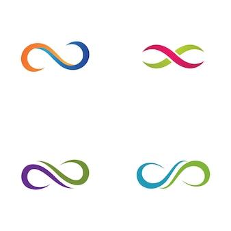 Disegno del modello di logo infinity design