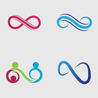Infinity design vector icona illustrazione logo modello design