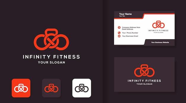 Design del logo infinity fitness e design del biglietto da visita