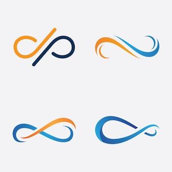 Icona dell'infinito, disegno del modello vettoriale