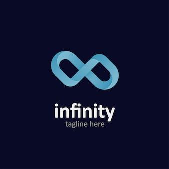 Illustrazione di infinito di stile moderno per lo stile del logo
