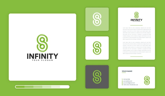Modello di progettazione del logo infinito