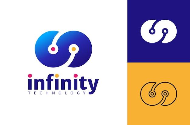 Concetto di design del modello logo infinito