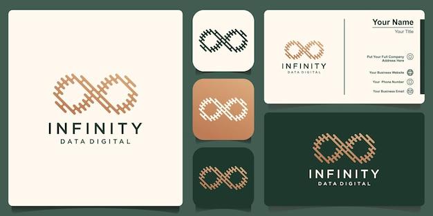 Modello logo infinito, loop con concetto di linea