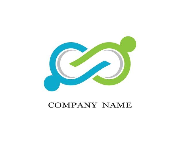 Progettazione dell'illustrazione dell'icona di vettore del modello di logo di infinito