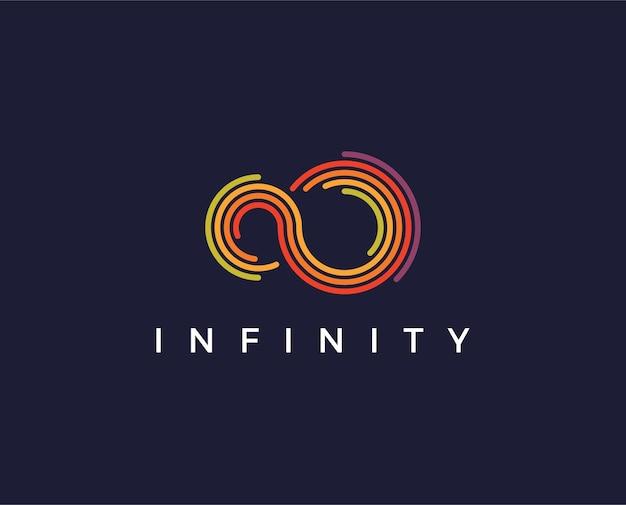 Modello logo infinito