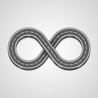 Fondo di vettore della strada di infinito, elemento di disegno del modello. illustrazione vettoriale