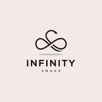 Illustrazione di progettazione di logo del serpente di infinito