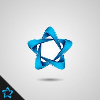 Simbolo del logo stella infinito