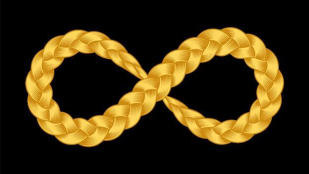 Simbolo di infinito della treccia di nastro