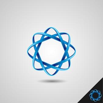 Simbolo di infinito con stile 3d e concetto di ottagono