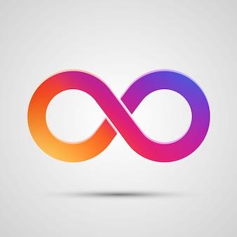 Simbolo di infinito con sfumatura di colore. illustrazione vettoriale