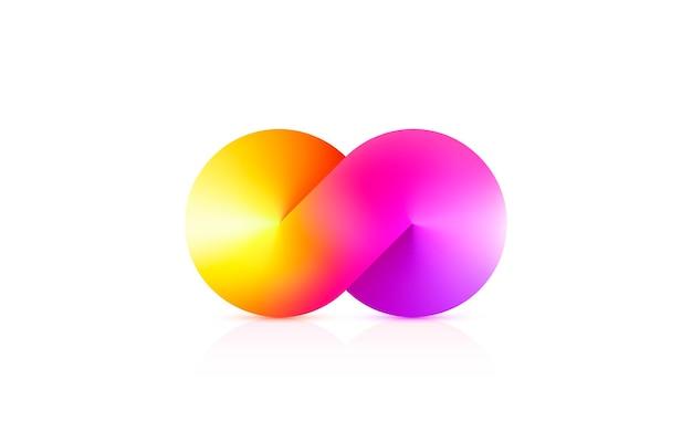 Simbolo di infinito con gradiente di colore Vettore Premium