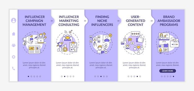 Modello di onboarding delle tecnologie di marketing dell'influencer