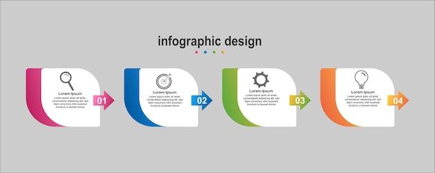 Info graphic design business Vettore Premium