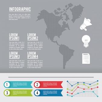 Infographic continente americano
