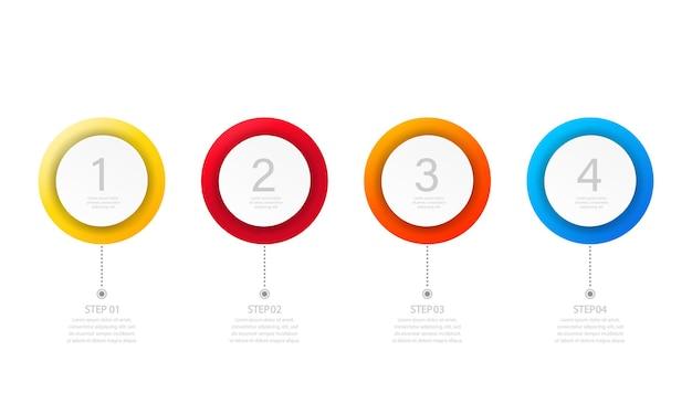 Banne infografica isolato sfondo bianco
