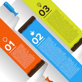 Vernice a pennello infografica