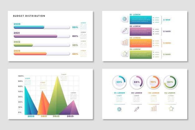 Modello di budget infografica