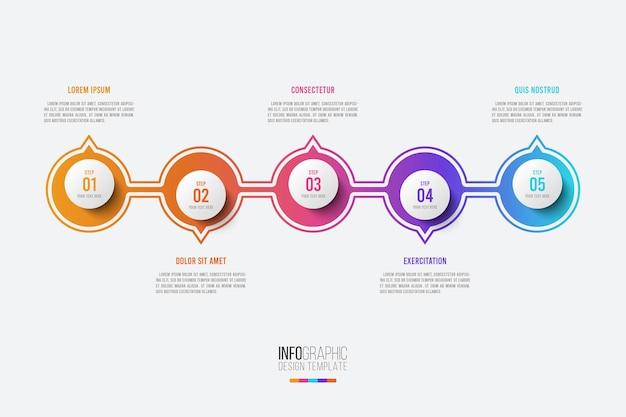 Modello di progettazione aziendale infografica