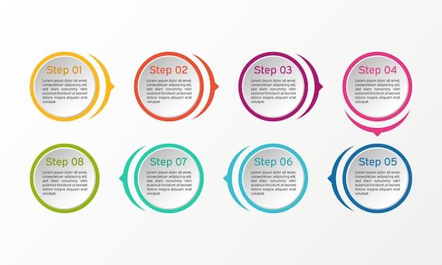 Infografica. diagrammi aziendali, presentazioni e grafici.