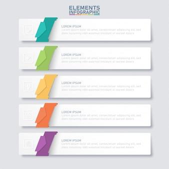Elementi di business infografica.