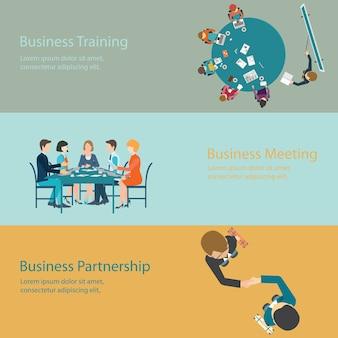 Infografica della riunione d'affari.