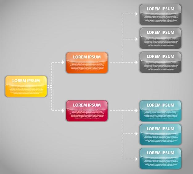 Modello di business infografica con due passaggi