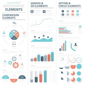 Collezione di elementi vettoriali aziendali infografici
