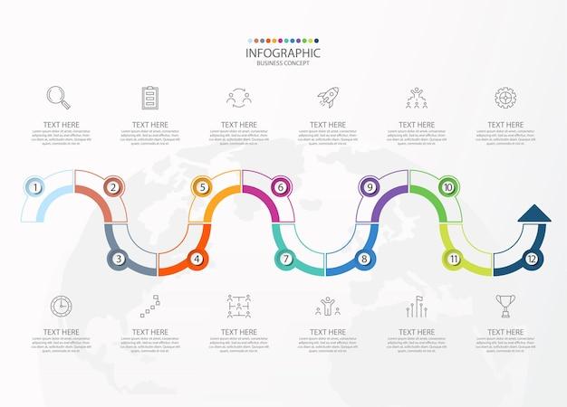 Illustrazione del grafico infografico
