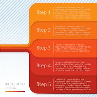 Modello di grafico infografico.