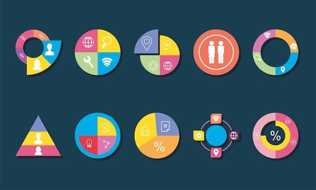 Set di grafici infografici