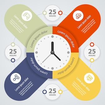 Progettazione infografica. può essere utilizzato per il layout del flusso di lavoro, banner, diagramma, opzioni di numero, opzioni di incremento, web design.
