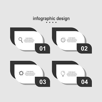 Infografica design foglia design moderno business