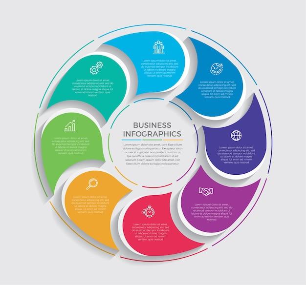 Icone di marketing e progettazione infografica. concetto di affari con 10 opzioni, passaggi o processi.